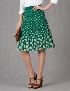 Pretty Pleat Skirt WG485 Knee Length Skirts at Boden