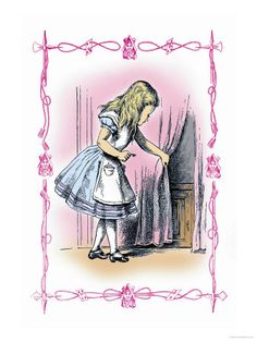 Alice Tries the Golden Key by Sir John Tenniel Frames For Canvas Paintings, Painting Prints, Canvas Wall Art, Art Prints, Lewis Carroll, Adventures In Wonderland, Wonderland Alice, Pin Up, John Tenniel