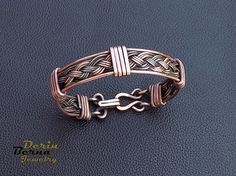 Men copper cuff braceletCopper Wire Men BraceletWire