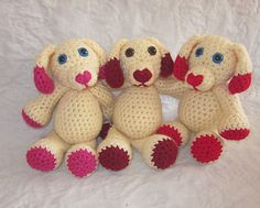 Mini Valentine's Day Puppy Amigurumi - Free Pattern - PDF download