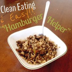 """Homemade """"Hamburger Helper"""" 