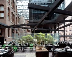 Brasserie within the lobby of the Conservatorium Hotel in Amsterdam, The Netherlands by Piero Lissoni