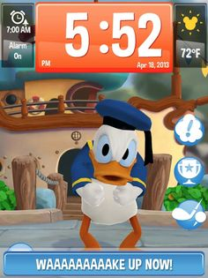 Wake Up With Disney - Alarm Clock App Featuring Donald Duck