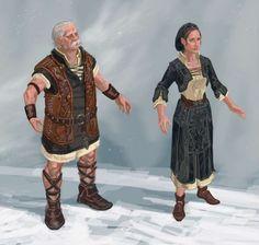 Nord Costume concept art from The Elder Scrolls V: Skyrim by Adam Adamowicz