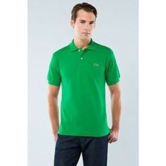 lacoste men polo shirt green