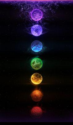 Auralings (Chakra) orbs.