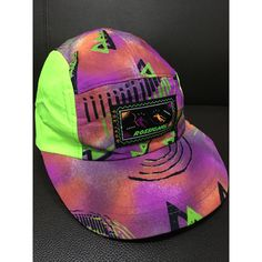 Vintage ROSSIGNOL Neon 80s Five Panel Surfer Surf Adjustable Corduroy...  ( 36) ❤ liked on Polyvore featuring accessories eff55aca3a6