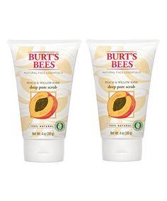 Burts Bees Peach & Willow Bark Deep Pore Scrub - Set of Two | zulily