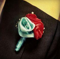 Hand sewn ribbon roses // diy wedding flowers