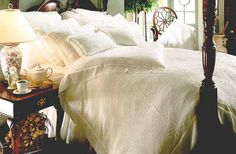Silk Comforters, Silk Blankets and Washable Silk Sheets: Check out our newly expanded lines of seamless machine washable silk sheets and pillowcases in several 100% natural silk fabrics ranging from 15 to 19 momme. See also our new line of silk duvets, including the incredibly beautiful silk matelasse duvets and shams shown in the photo above.