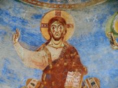 Jesus from S. Angelos in Formis a fab Romanesque church above Capua. 2013