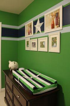 Babyzimmer wandgestaltung junge grün  Babyzimmer Streifen Wand Junge | Kids | Pinterest | gestreifte ...