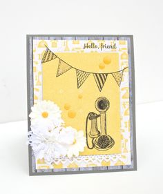 Hello by @maldonadomas using @mymindseyeinc #creativeCafeKOTM #card #stamping