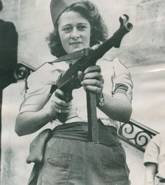 Resistance fighter, from Femmes au Combat, an exhibition at Galerie Lumière des Roses in Montreuil, France,