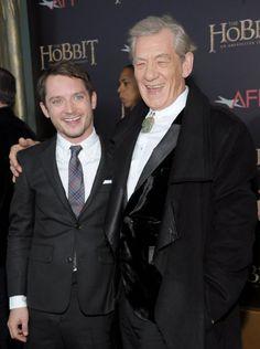 Elijah Wood and Ian McKellen at event of The Hobbit: An Unexpected Journey
