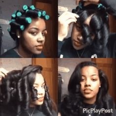 Can You Tell If These People Are Wearing Weaves, Wigs, Or Their Natural Hair Roller Set Natural Hair, Natural Hair Tips, Natural Hair Styles, Natural Hair Blowout, Going Natural, Roller Set Hairstyles, School Hairstyles, Boho Hairstyles, Formal Hairstyles