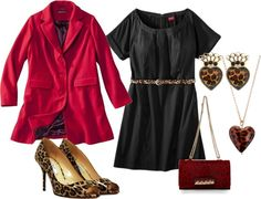 """a touch of leopard"" by belleblue1 on Polyvore"