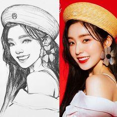 Kpop Drawings, Pencil Art Drawings, Realistic Drawings, Art Drawings Sketches, Girl Sketch, Korean Art, Human Art, Art Sketchbook, Portrait Art