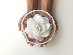 Ring Bearer Pillow / Hoop / White Flower