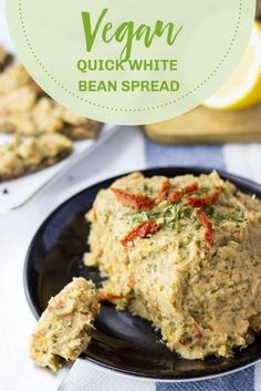 Quick white bean spread is like a delicious, vegan pâté! This super fast recipe works as an appetizer, snack or party dip. Surprise your guests with this awesome spread! It's so easy to whip up, making it a perfect addition to your menu for entertaining! #beandip #vegan #recipes #healthy #quick #vegetarian #plantbased Vegetarian Sandwich Recipes, Beef Recipes, Italian Recipes, Vegan Recipes, Vegetarian Grilling, Healthy Grilling, Barbecue Recipes, Barbecue Sauce, Vegetarian Food
