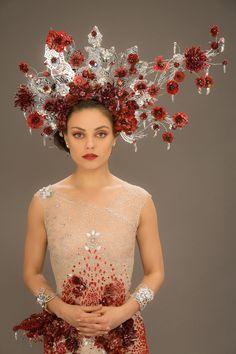 The Wedding - Jupiter Jones' (Mila Kunis) wedding dress as it appears in the film. - Jupiter Ascending – Official Look Book
