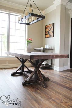 A Restoration Hardware-Inspired Table (Just 10x Cheaper)