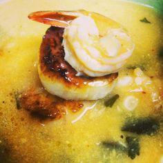 Thai Coconut Corn Chowder with Shrimp and Seared Sea Scallops