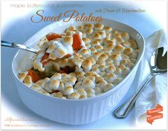 Maple, Butterscotch & Cinnamon Sweet Potatoes With Pecans & Marshmallows