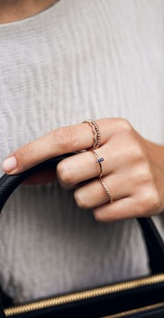 Stackable rose gold rings | Astley Clarke