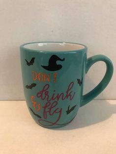 5d9353af8f3 Halloween Mug, Witch Broom, Personalized Coffee Mugs, I Cup, Funny Mugs,