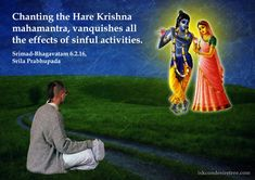 Chanting The Hare Krishna Mahamantra  For full quote go to: http://quotes.iskcondesiretree.com/srimad-bhagavatam-on-chanting-the-hare-krishna-mahamantra/  Subscribe to Hare Krishna Quotes: http://harekrishnaquotes.com/subscribe/  #Chanting