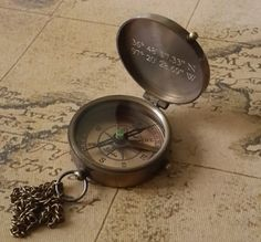 Engraved compass by paperonly via etsy #groomsmengifts