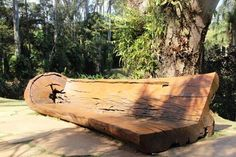 Banco de tronco de árvore Tree Furniture, Outdoor Furniture, Outdoor Decor, Firewood, Bench, Home Decor, Link, House, Driftwood Crafts