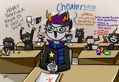 The longer you look at it, the funnier it gets. XD (Karkat's eyes are so derpy.)