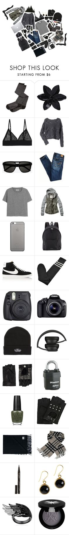 """""""You will never see me cry. My sadness runs deep but my heart is still pure. // Everyday 1 // Ezekiel Jones // The Librarians"""" by saffire9975 ❤ liked on Polyvore featuring Rabens Saloner, ASOS, Monki, sass & bide, Yves Saint Laurent, American Eagle Outfitters, Madewell, Abercrombie & Fitch, Native Union and Burberry"""