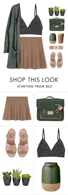 """overthrown"" by via-m ❤ liked on Polyvore featuring Dr. Martens, A.P.C., Monki, Bloomingville, Julie Fagerholt Heartmade, Spring, Winter, GREEN, brown and spring2016"