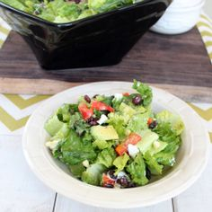 This Grilled Romaine Mexican Chopped Salad with Honey Lime Dressing is the perfect Gluten Free, Vegetarian dish for Cinco De Mayo!