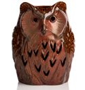 Wise Old Owl Shade. Ceramic hand made.