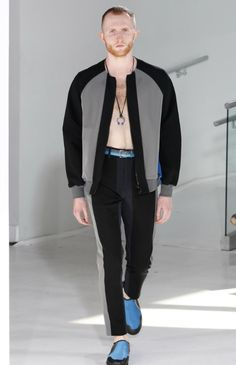 So far there's been no shortage of bomber jackets, jogger pants and anoraks on the New York runways and although N.Hoolywood designer Daisuke Obana offered up these active-influenced items, his tak…