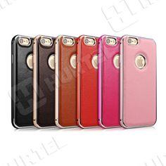 Etui i pokrowce   Skórzane etui z bumperem Leather Series do iPhone 6 w kolorze różowym   EKLIK - Sklep GSM, Akcesoria na tablet i telefon