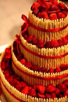 Wedding Strawberry Cake