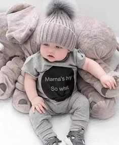 418f7c71722 Mama s Boy So What - Romper Cute Outfits For Kids