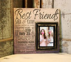 Inspired by our vintage signs, these picture frames by Madi Kay Designs make great gifts for any special occasion including: wedding, anniversary, parent, grandparents, birthday, godparents, baptism, baby, bridesmaid, sister, graduation. They make the perfect addition to your personalized home décor collection. Do you have a favorite quote, saying, song, lyric, vow, poem? We can customize the color of the background, color of the 5x7 wood frame, and the font can be customized to fit your…