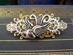 Steampunk Hair Clip HC13  Large Barrette  by DesignsByFriston