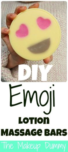 VIDEO-tutorial for Emoji Lotion Bars. This is AMAZING! How To make your own DIY Heart Emoji Lotion Massage Bars! Tutorial by The Makeup Dummy