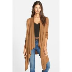 echo | Fringe Trim Ruana | Fringe trim, Nordstrom and Clothes