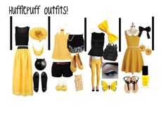 Hufflepuff outfits by maddiegirl1212 on Polyvore featuring TIBI, ONLY, Vero Moda, Pieces, ASOS, George J. Love, Lipsy, Jozica, Pier 1 Imports and Barry M