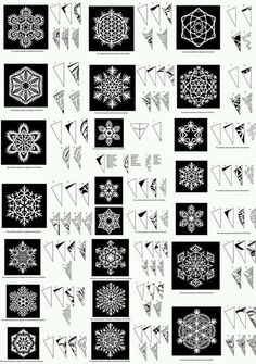 cristaux de neige en papier (tutoriel gratuit - DIY) - tutolibre