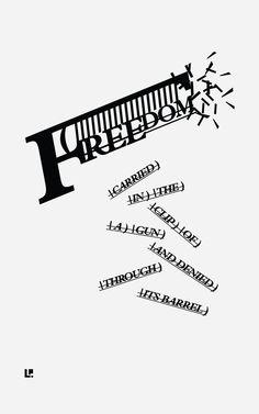 Liberty #ConcretePoetry #Poetry #CaffeineAndConcrete #Typography