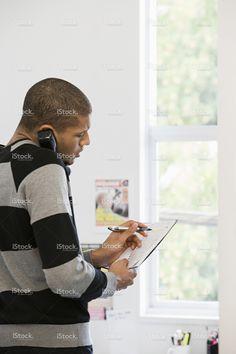 Office worker on telephone stock photo 56735016 - iStock